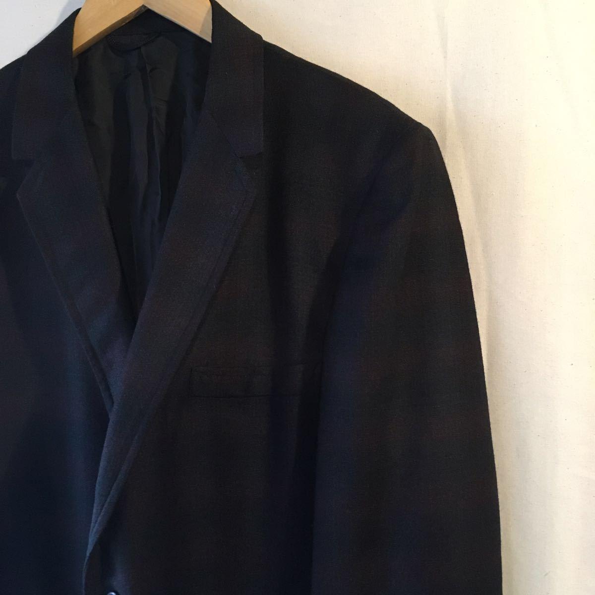 1960's オンブレ ビンテージ テーラードジャケット HAMPTON HEATH シャドーチェック モッズ アイビー UK 黒 ブラック 50s 70s_画像4