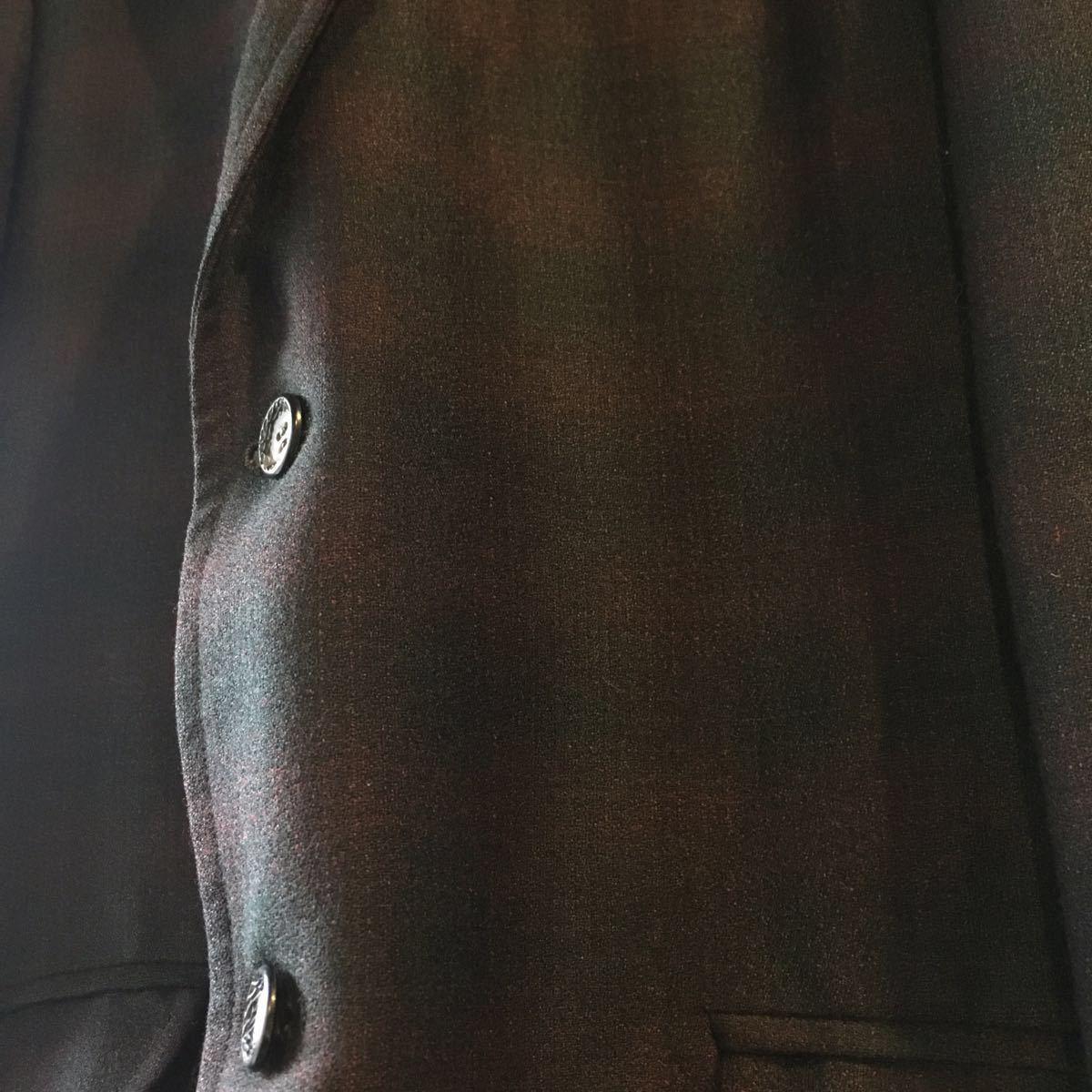 1960's オンブレ ビンテージ テーラードジャケット HAMPTON HEATH シャドーチェック モッズ アイビー UK 黒 ブラック 50s 70s_画像3