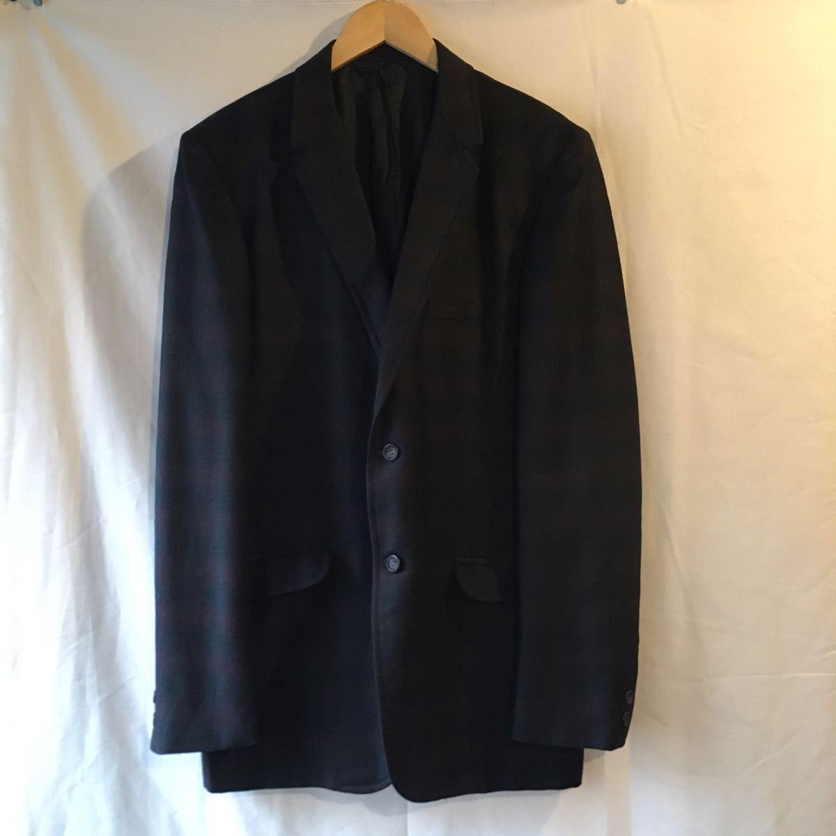 1960's オンブレ ビンテージ テーラードジャケット HAMPTON HEATH シャドーチェック モッズ アイビー UK 黒 ブラック 50s 70s_画像1
