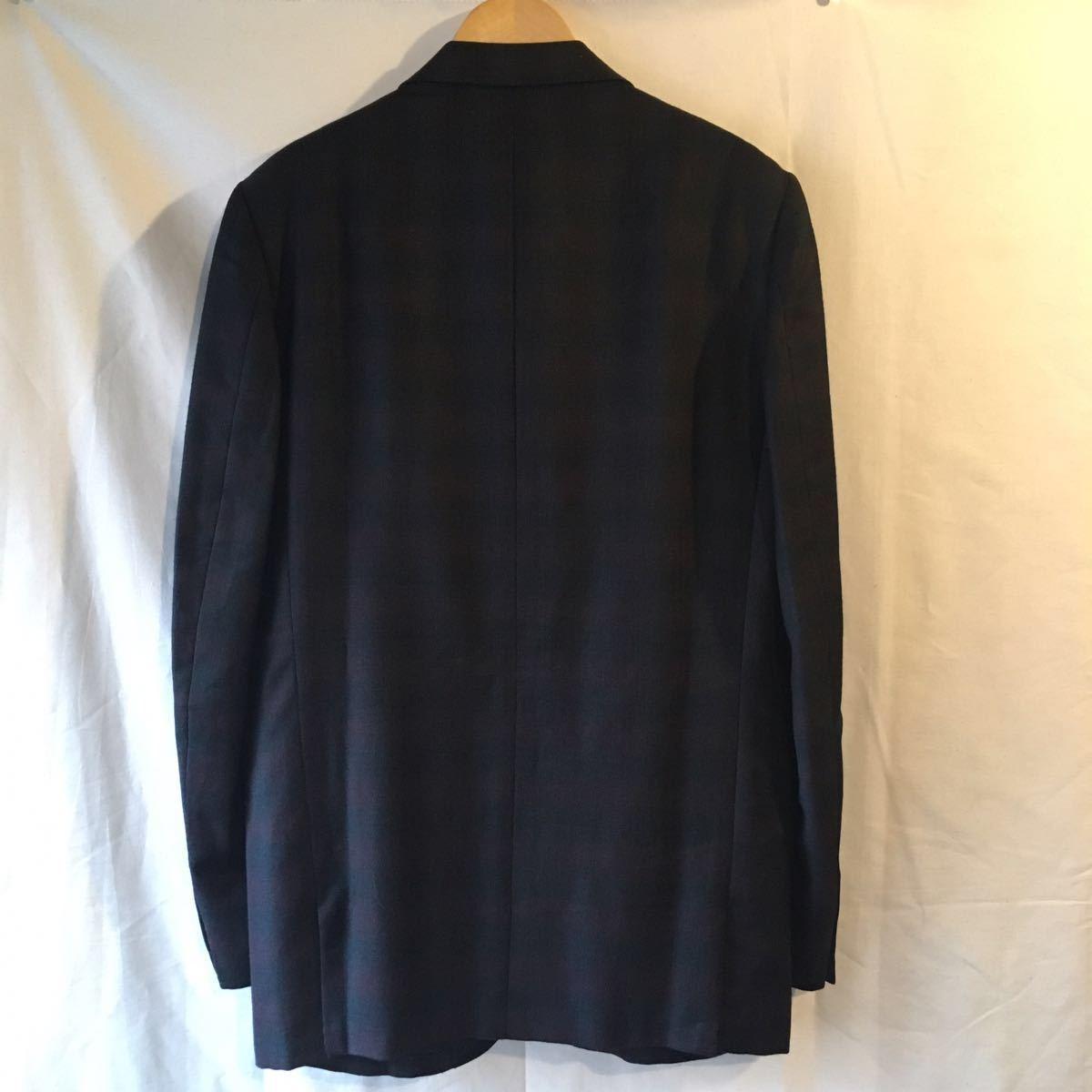 1960's オンブレ ビンテージ テーラードジャケット HAMPTON HEATH シャドーチェック モッズ アイビー UK 黒 ブラック 50s 70s_画像5