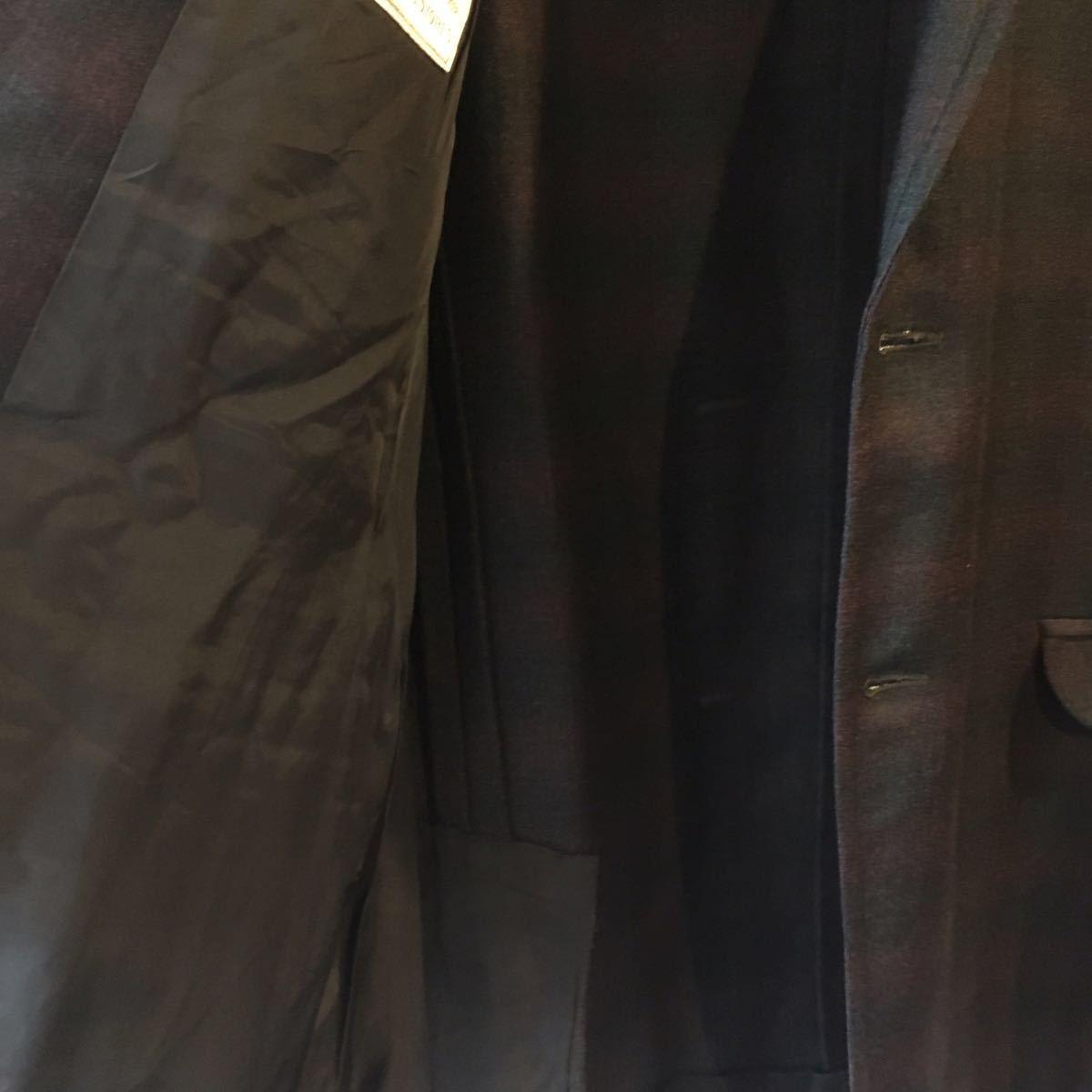 1960's オンブレ ビンテージ テーラードジャケット HAMPTON HEATH シャドーチェック モッズ アイビー UK 黒 ブラック 50s 70s_画像7