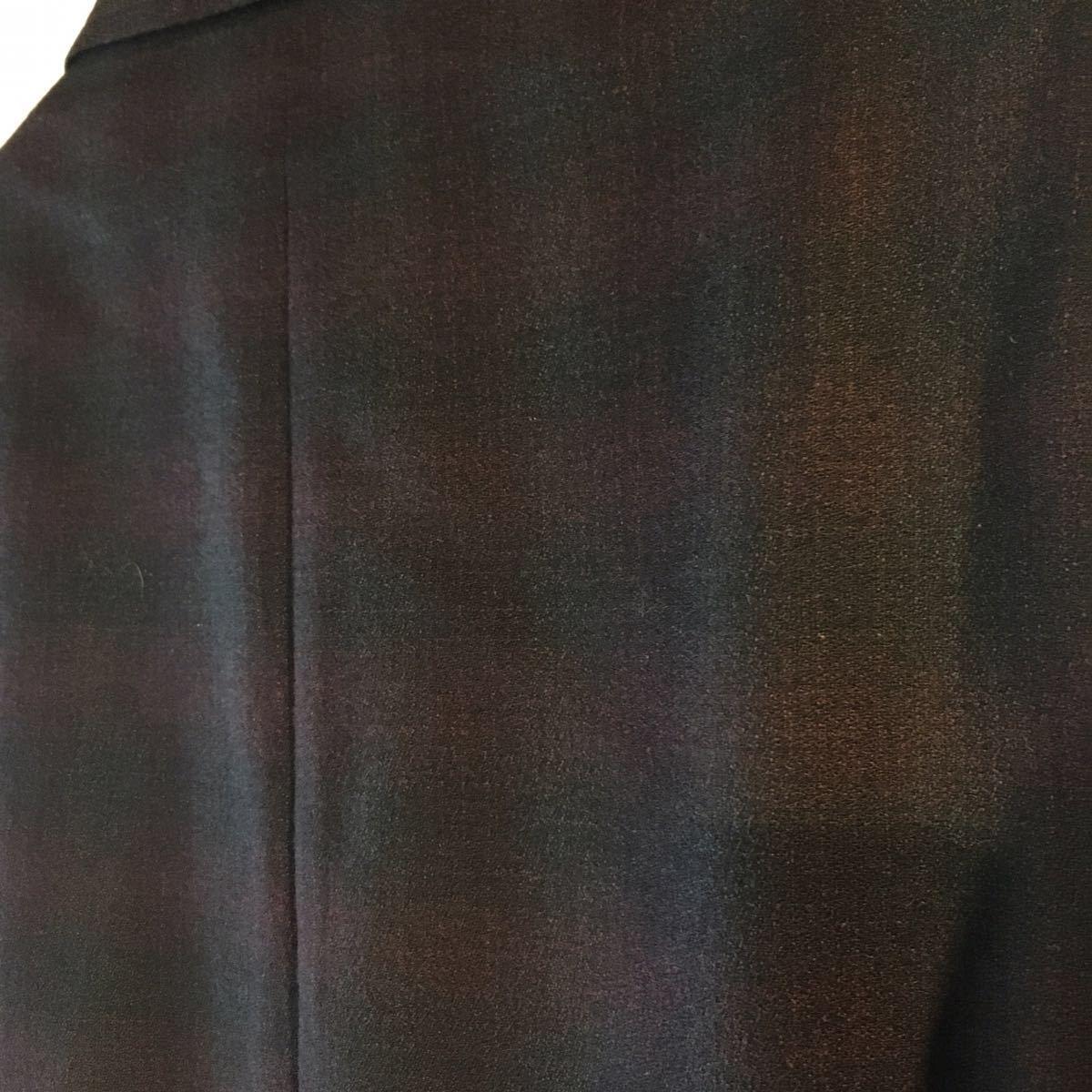 1960's オンブレ ビンテージ テーラードジャケット HAMPTON HEATH シャドーチェック モッズ アイビー UK 黒 ブラック 50s 70s_画像8