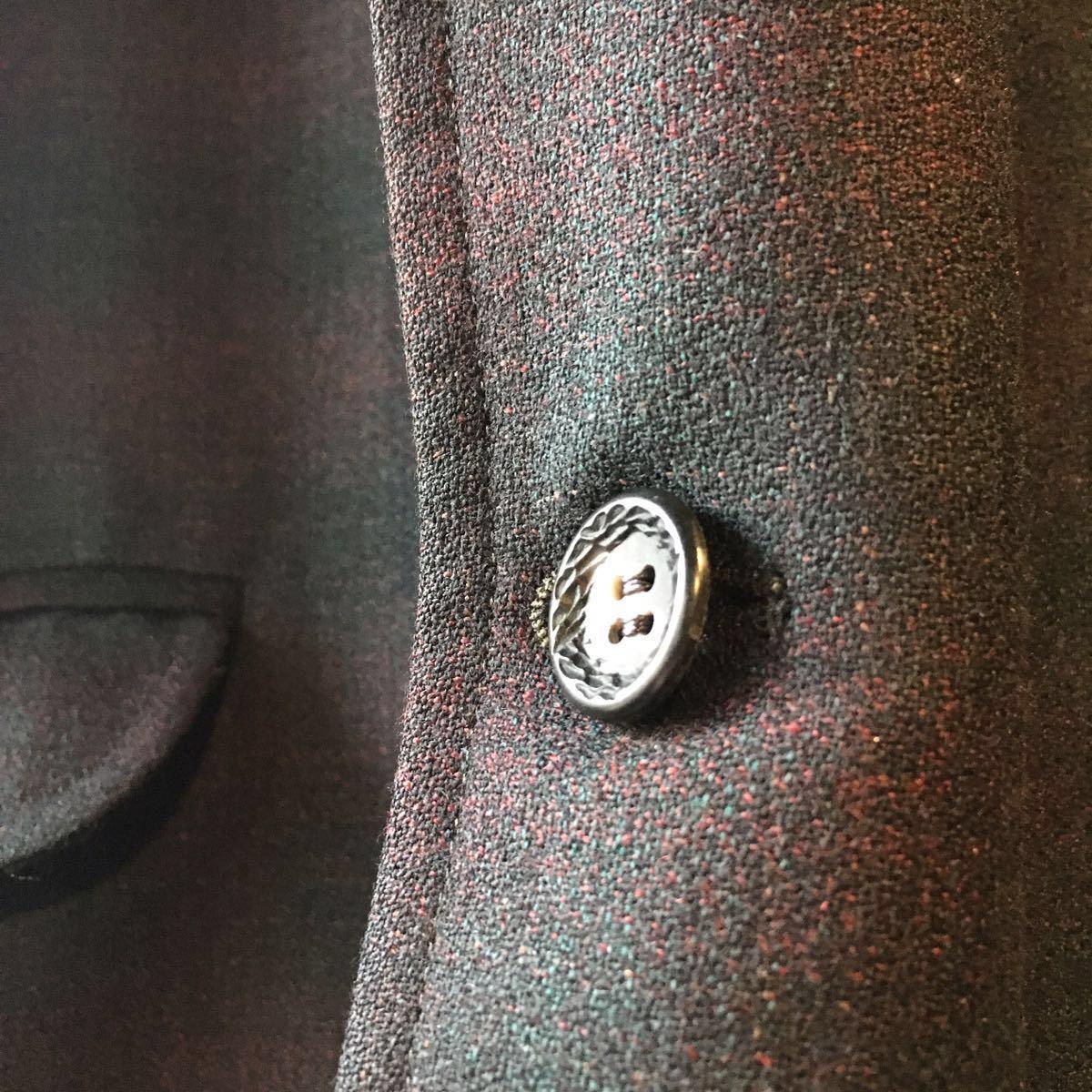 1960's オンブレ ビンテージ テーラードジャケット HAMPTON HEATH シャドーチェック モッズ アイビー UK 黒 ブラック 50s 70s_画像2