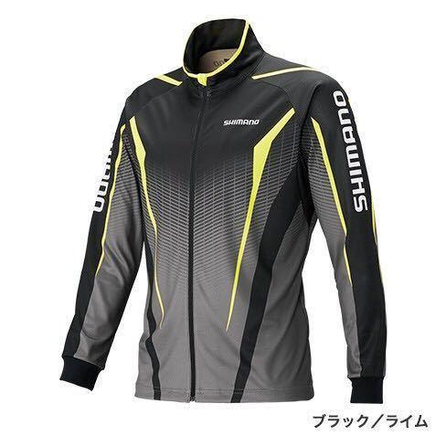 シマノ SH-051S サイズ M フルジッププリントシャツ(長袖) 希望小売価格 8500円 ブラック/ライム_画像1