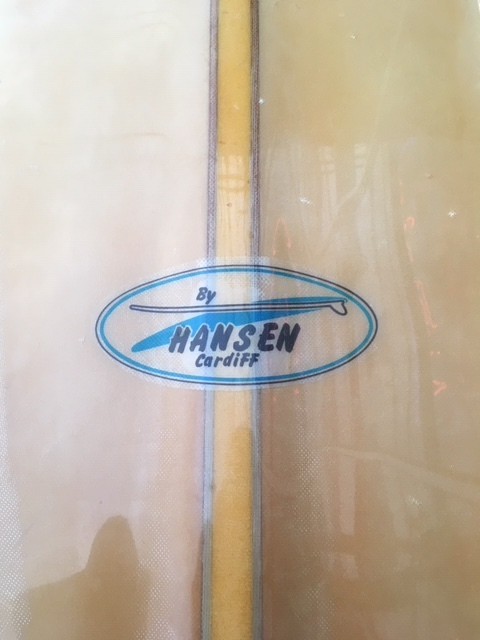 "HANSEN ハンセン '60 1960年代 ヴィンテージボード VINTAGE Dフィン フルレストア済 7'10"" オンフィン 中古 美品_画像4"