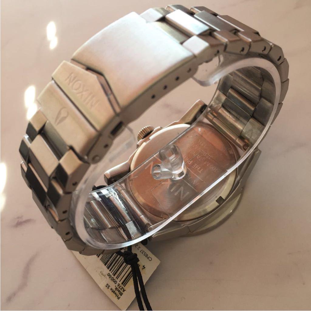 新品箱付き NIXON ニクソン 腕時計 PRIVATE プライベート A276-000 ブラック メタル A276000_画像4