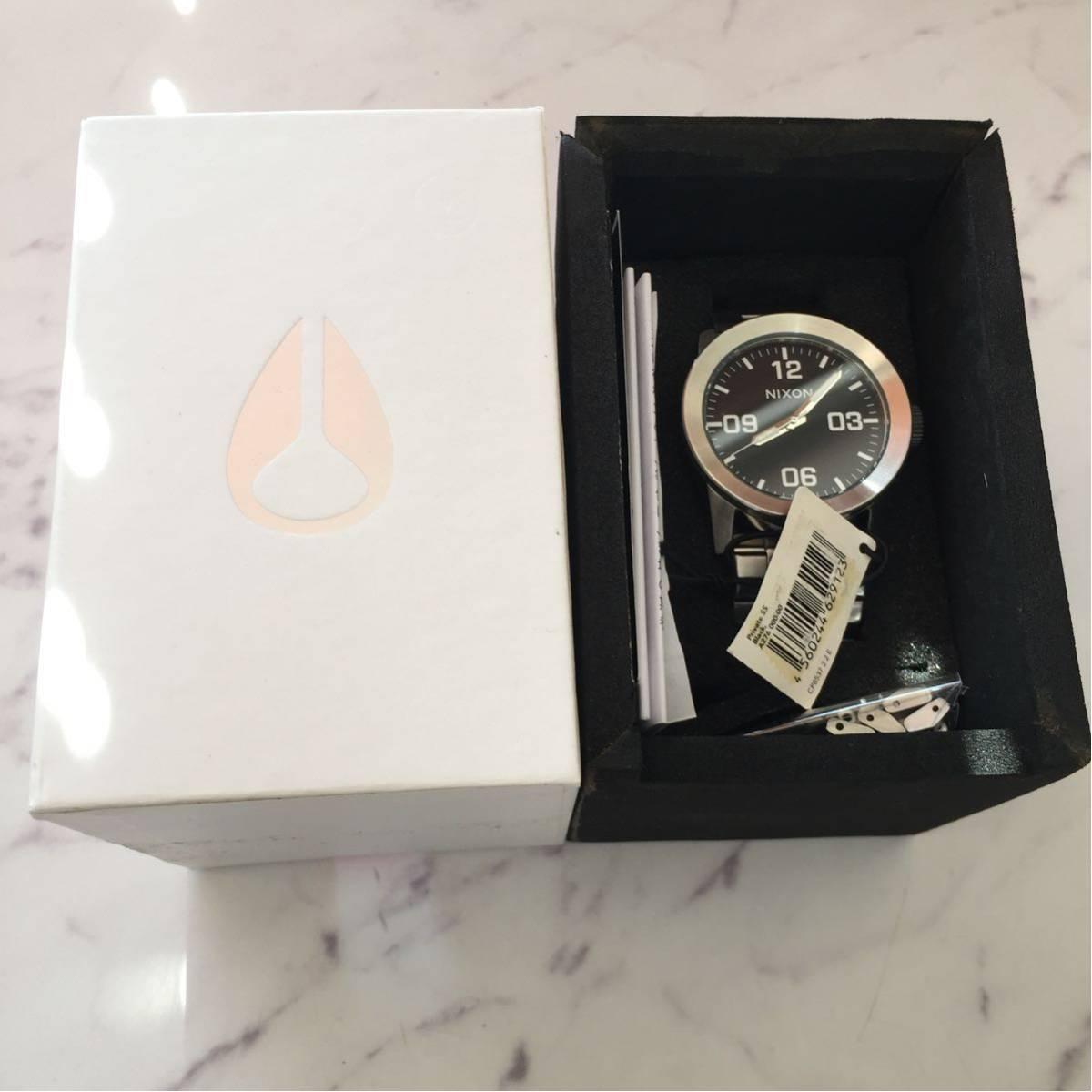 新品箱付き NIXON ニクソン 腕時計 PRIVATE プライベート A276-000 ブラック メタル A276000_画像6
