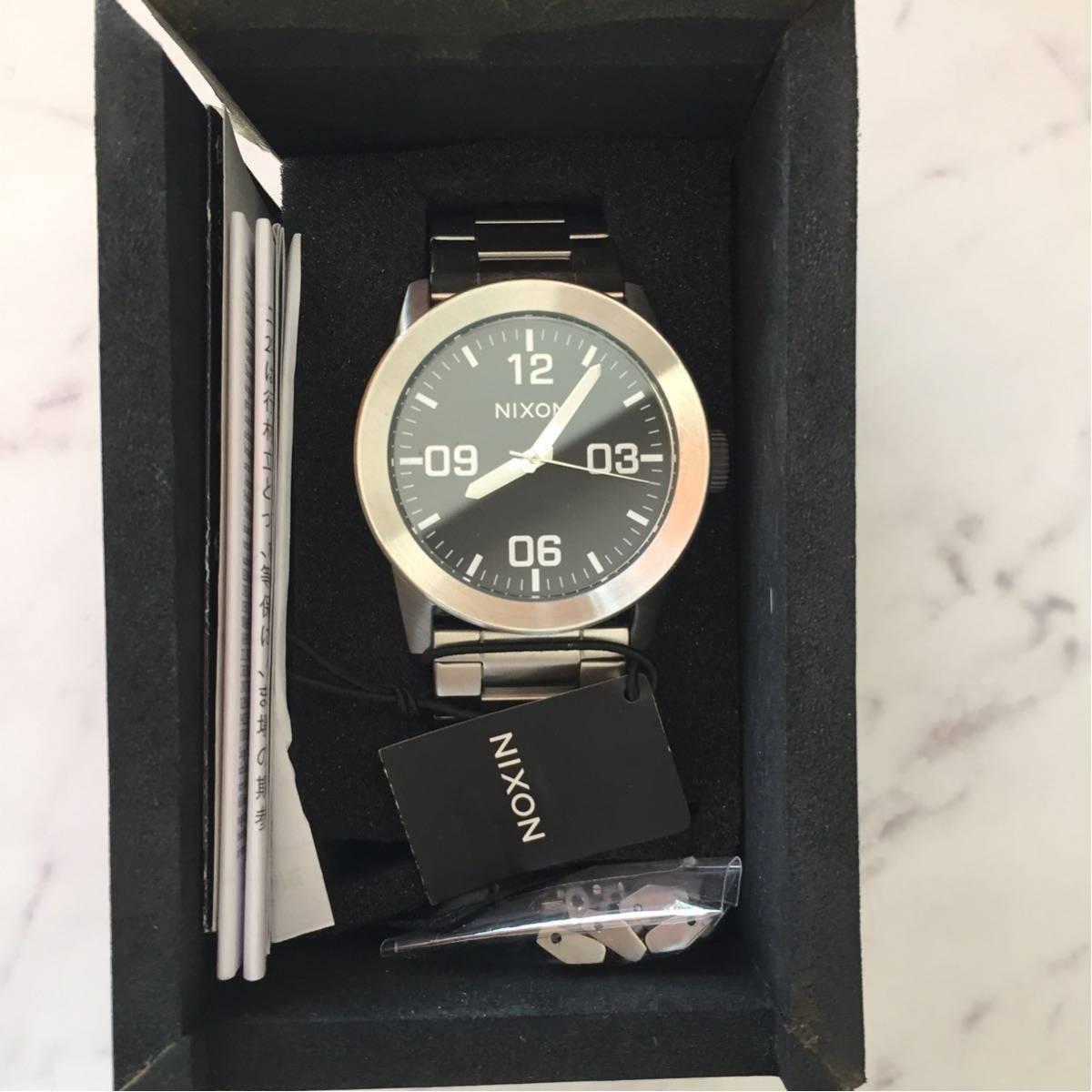 新品箱付き NIXON ニクソン 腕時計 PRIVATE プライベート A276-000 ブラック メタル A276000_画像2