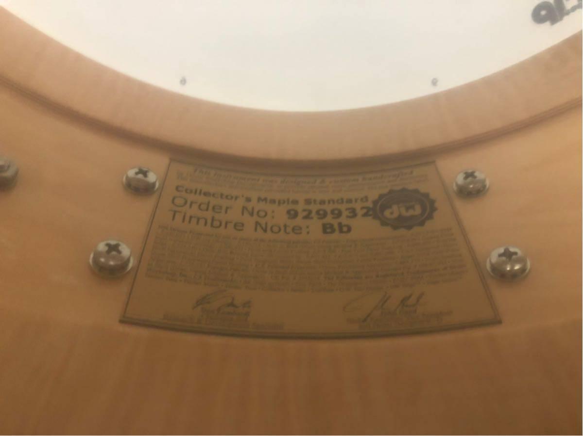 DW スネアドラム_コレクターズメイプル14×6_ [ほぼ新品]DW-CL 1460 SD/SO-NAT/C(イケベ楽器ドラムステーションで購入)_画像7