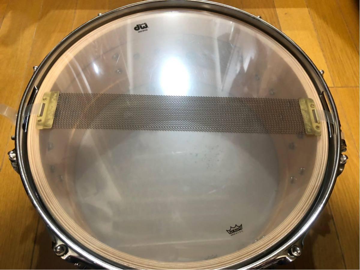 DW スネアドラム_コレクターズメイプル14×6_ [ほぼ新品]DW-CL 1460 SD/SO-NAT/C(イケベ楽器ドラムステーションで購入)_画像6