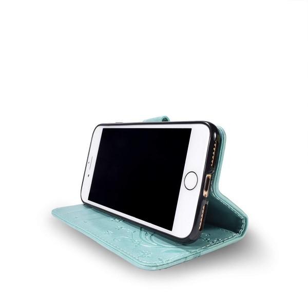蝶 緑色 iPhone7plus iPhone8plus iPhoneケース アイフォン7プラス アイホン8プラス 手帳型 スマホケース 携帯カバー 人気 激安 おしゃれ_画像4