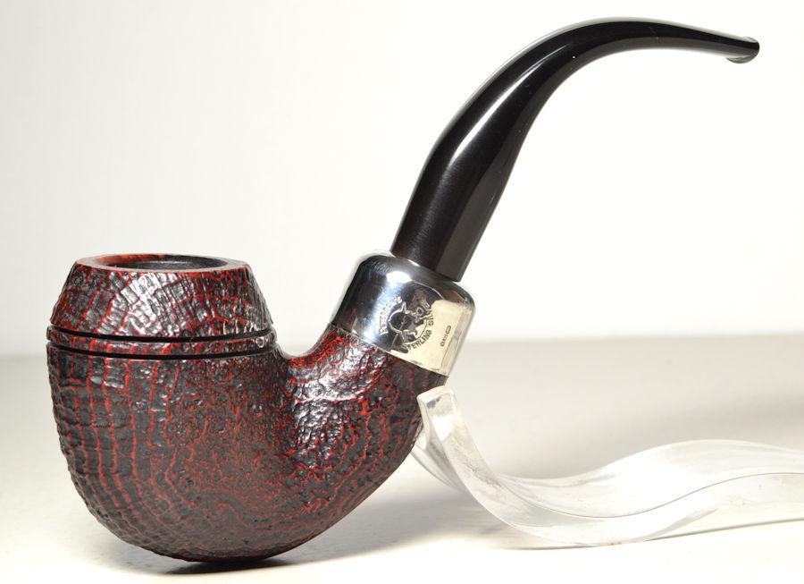 ピーターソン銘品 Peterson's Sherlock Holmes 極上品! 純銀アーミー フルベント