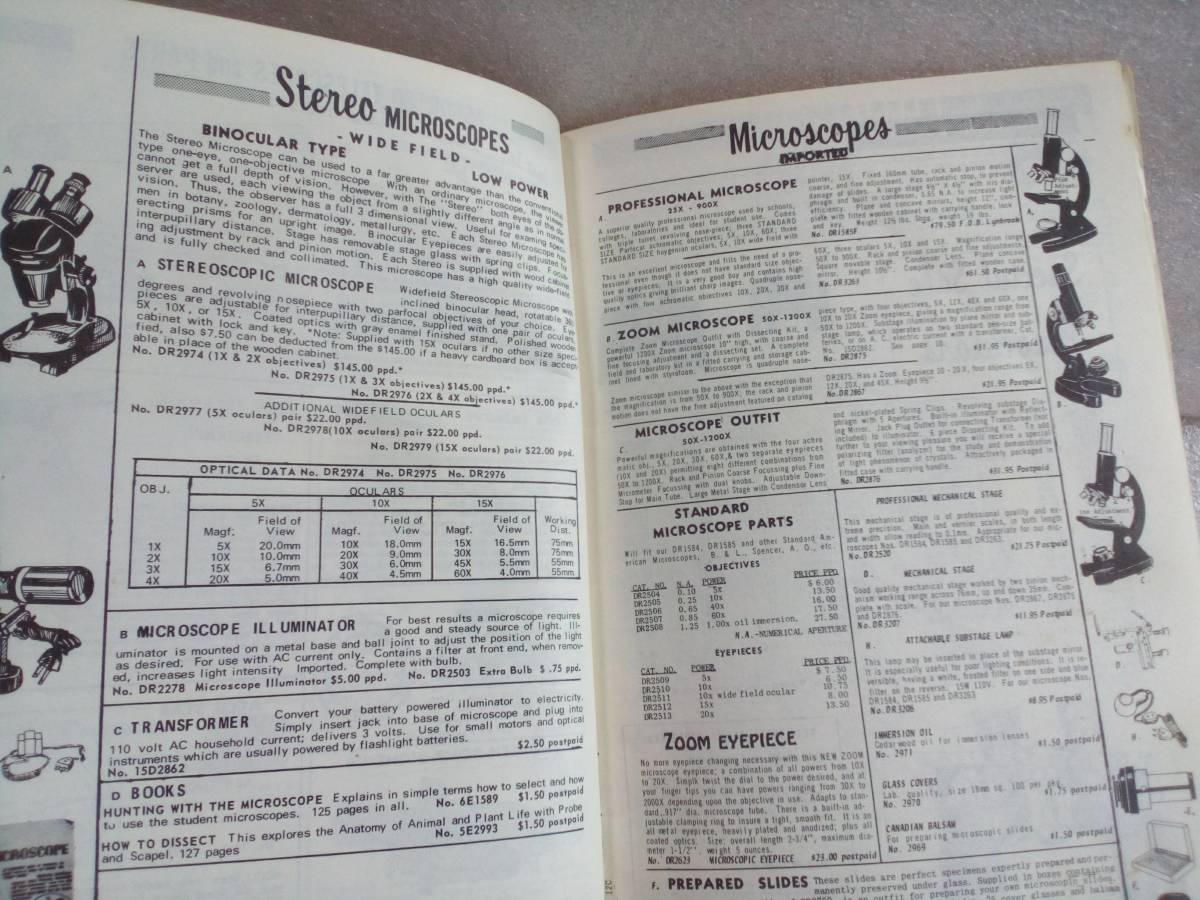 【天文】 1971年 アメリカ 光学製品カタログ レンズ 望遠鏡 双眼鏡 顕微鏡_画像5