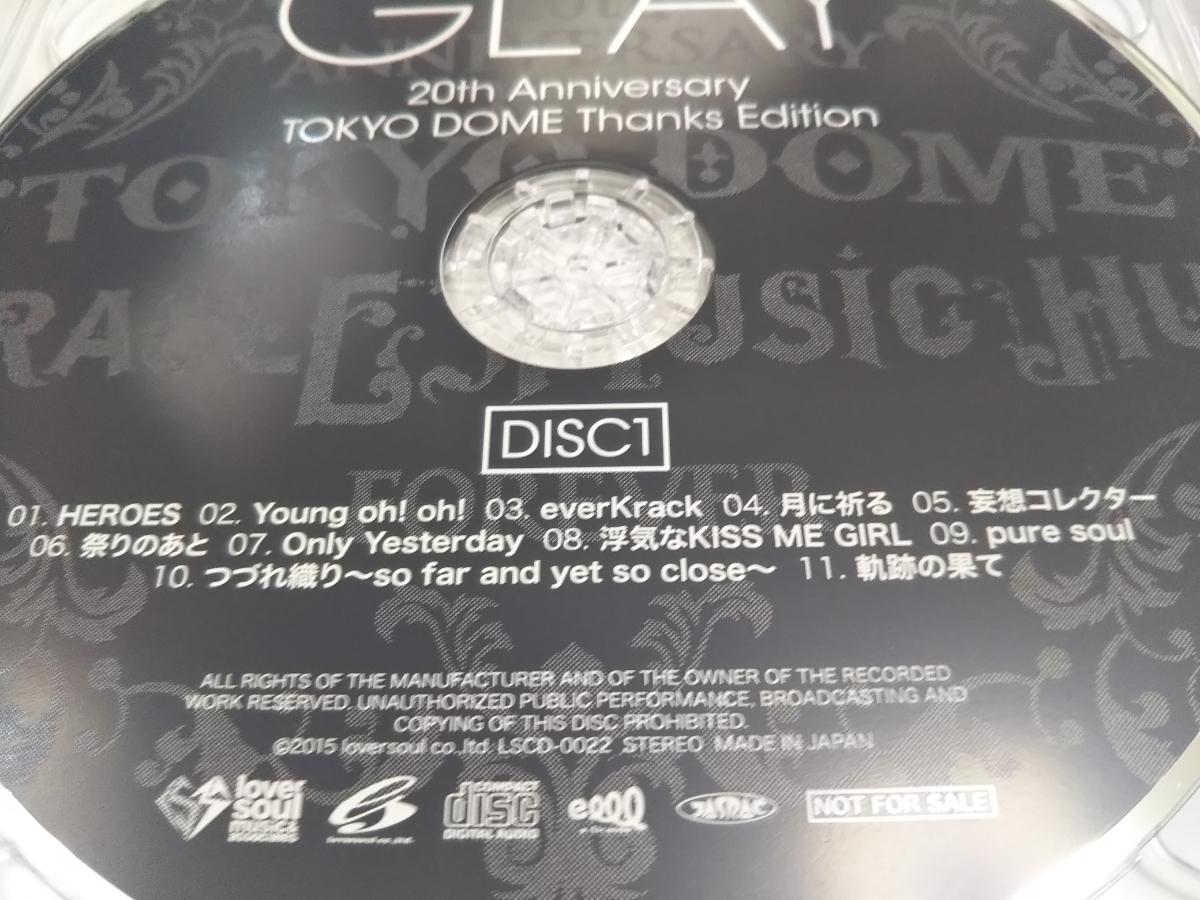 GLAY 20th Anniversary TOKYO DOME Thanks Edition グレイ 20周年 東京ドーム 非売品_画像6