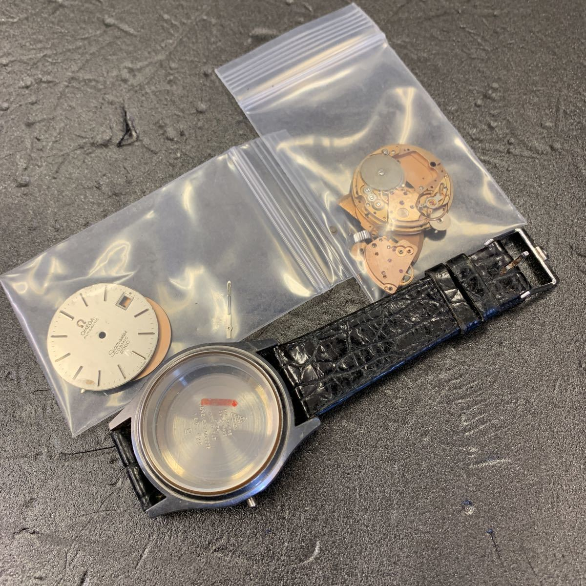時計店整理品/現状品/ジャンク扱い/OMEGA オメガ Seamaster COSMIC 2000 シーマスター コスミック 純正ベルト 自動巻 デイト メンズ 腕時計