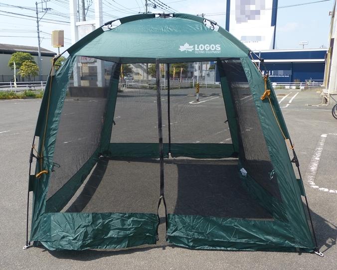 ● LOGOS ロゴス UVクイックスクリーン270 約2分間組み立て! テント クイックスクリーン アウトドア用品 キャンプ用品 中古 ●