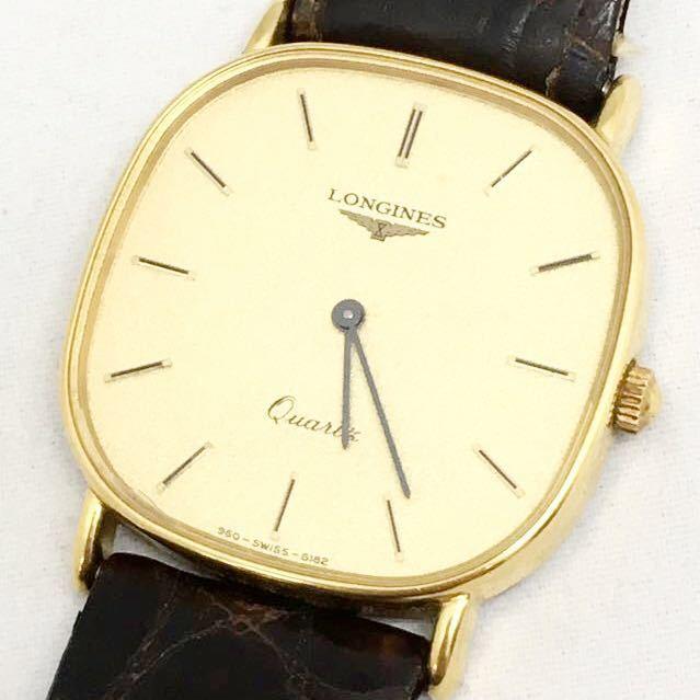 a 必見 ! 中古品 電池切れ 動作未確認 現状渡し ロンジン LONGINES クォーツ メンズ 腕時計 !