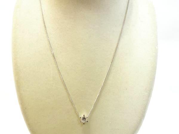 ○新品同様 一粒 ダイヤ 0.609ct プラチナ Pt900 ネックレス 3.8g N0015_画像2