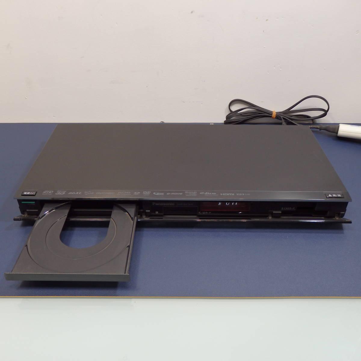中古良品♪ Panasonic HDD & Blu-ray DIGA 1TB DMR-BWT620 12年製 パナソニック 2チューナー DVD ブルーレイ レコーダー 純正リモコン_画像2