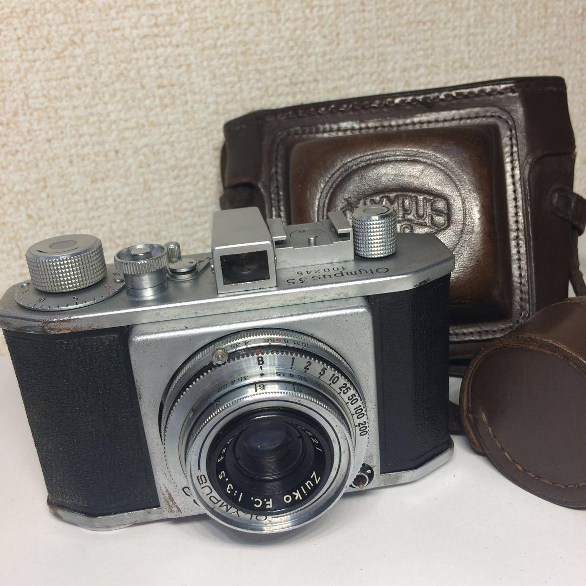 オリンパス OLYMPUS 35 コパル COPAL レンズ Zuiko F.C. 1:3.5 f=4cm ケース付 860681 mn0408_画像1