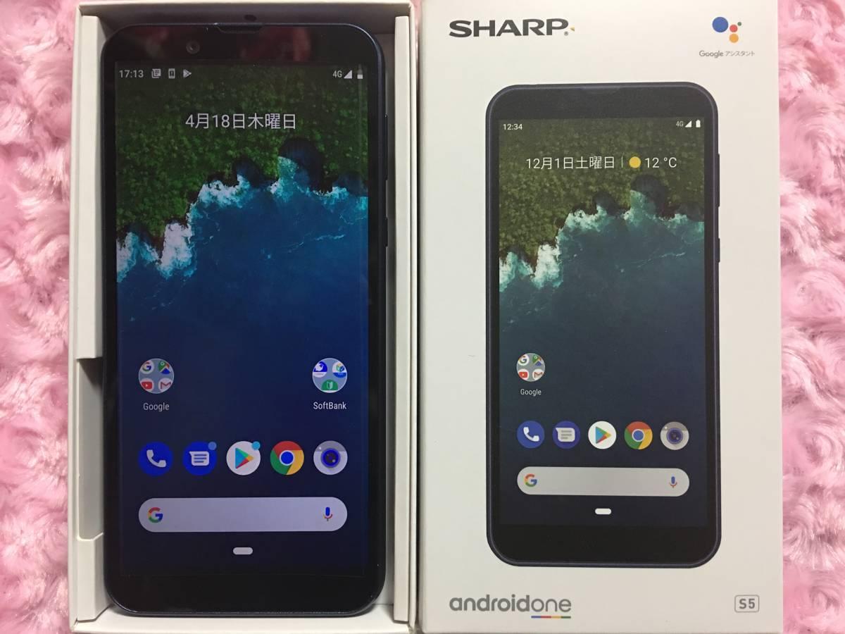 【新品】SHARP Android One S5 ダークブルー SIMロック解除済 一括購入/残債無 購入元キャリアSoftbank 未使用_画像3