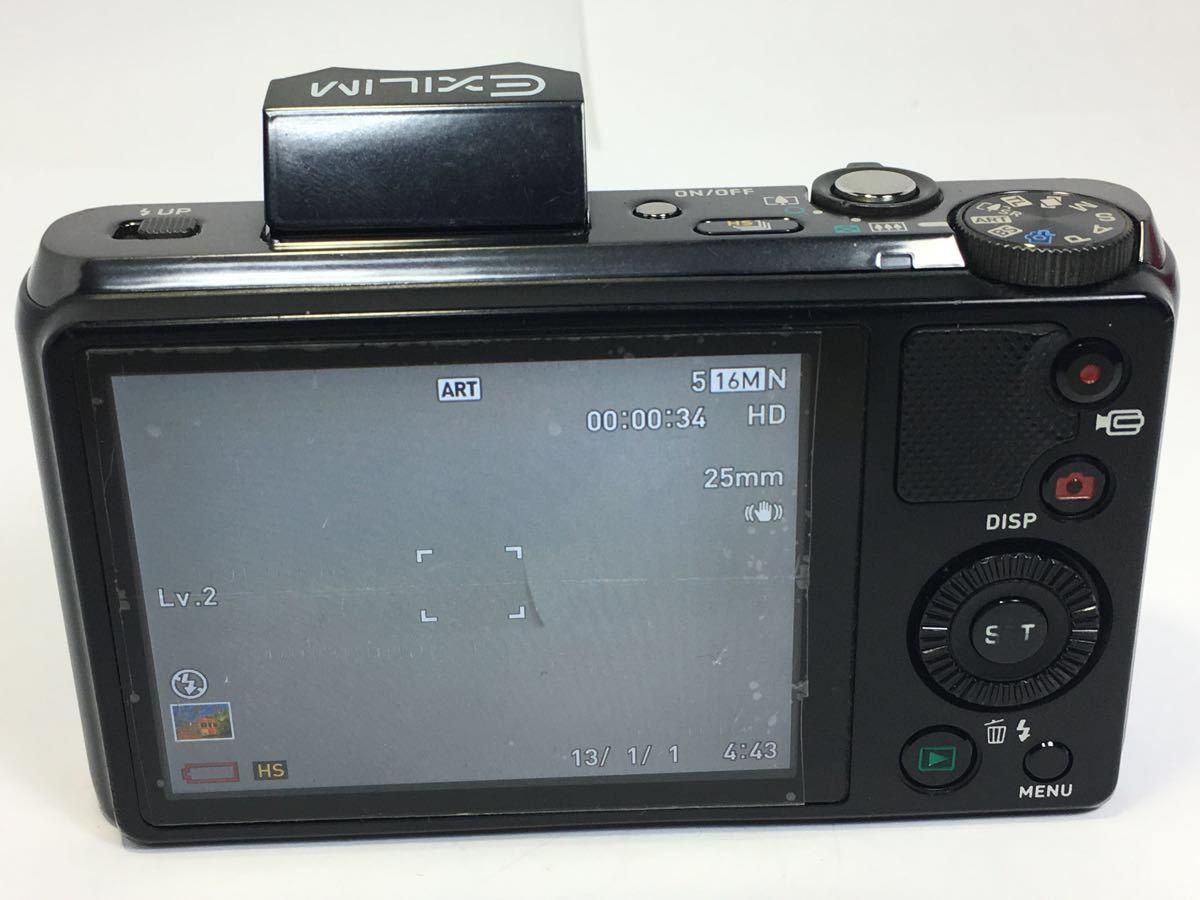 #R-16☆動作品☆CASIO カシオ デジタルカメラ EXILIM EX-ZR800 ブラック カメラ本体+バッテリー2個_画像7