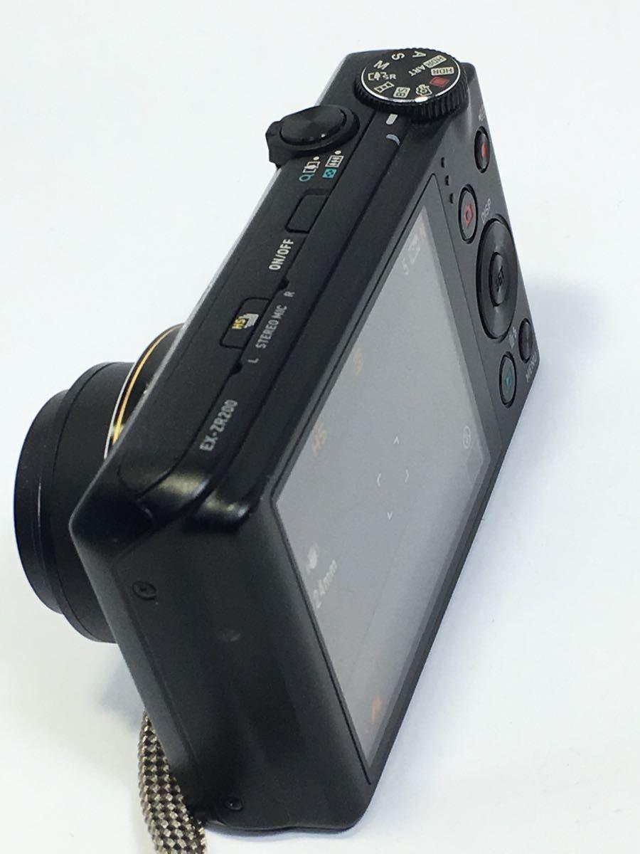 #R-9☆動作品☆CASIO カシオ デジタルカメラ EXILIM EX-ZR200 カメラ本体+バッテリー_画像5