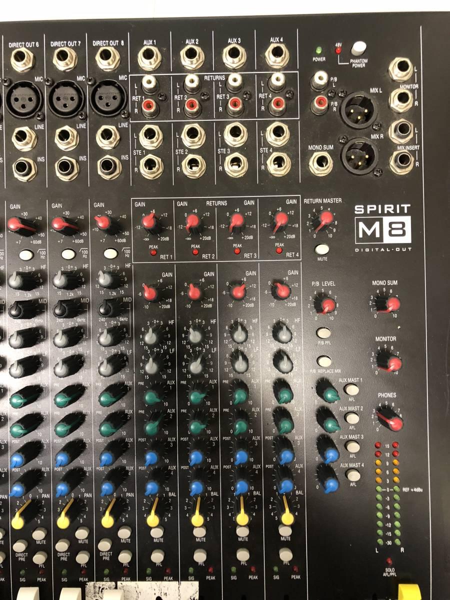 0522 値下げ SoundCraft SPILIT M8 16ch入力4AUX+ST出力ミキサー100mmフェーダー_画像5