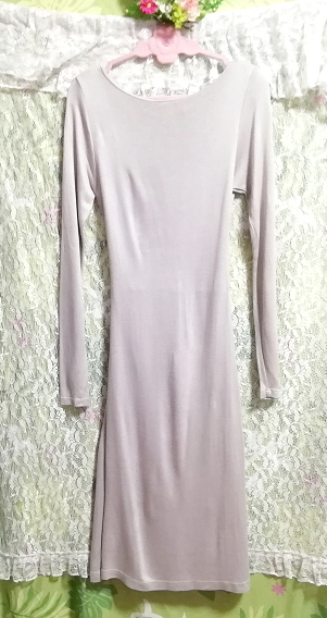 ZARA COLLECTION ポルトガル製灰グレー長袖チュニックワンピース Made in Portugal gray long sleeve tunic onepiece dress_画像3
