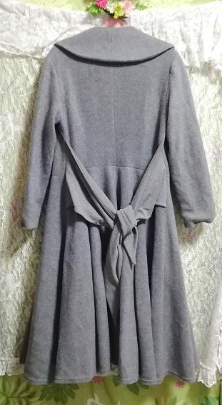 灰グレーロングカーディガンコート羽織外套 Gray long cardigan coat outerwear_画像2