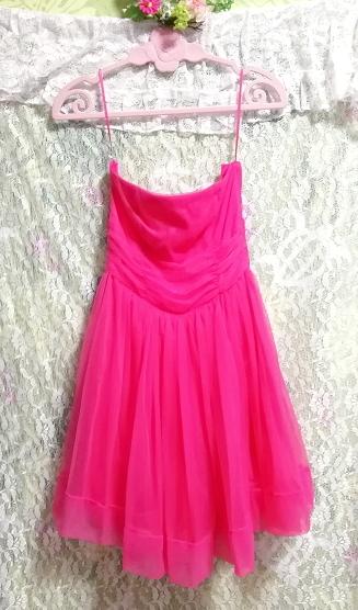 インド製蛍光ピンクマゼンタインディアンワンピースフレアドレス Made in India fluorescent pink magenta indian onepiece skirt dress_画像5
