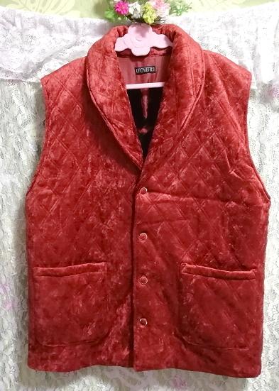 赤朱色レッド光沢豪華ベスト Scarlet red luster luxury vest_画像1