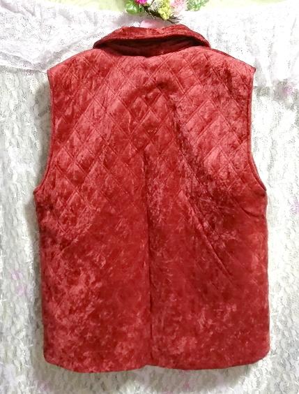 赤朱色レッド光沢豪華ベスト Scarlet red luster luxury vest_画像3
