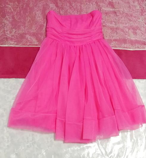 インド製蛍光ピンクマゼンタインディアンワンピースフレアドレス Made in India fluorescent pink magenta indian onepiece skirt dress_画像1