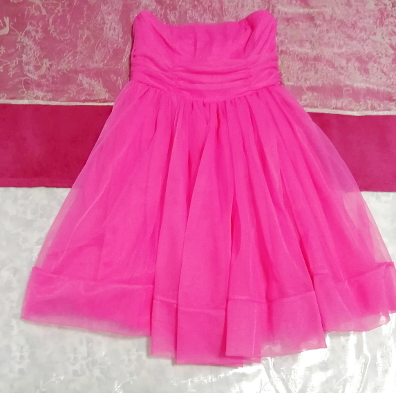 インド製蛍光ピンクマゼンタインディアンワンピースフレアドレス Made in India fluorescent pink magenta indian onepiece skirt dress_画像2