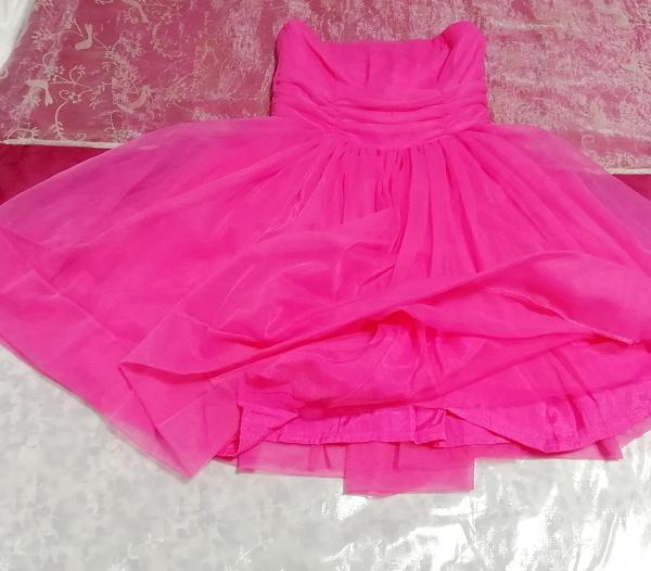 インド製蛍光ピンクマゼンタインディアンワンピースフレアドレス Made in India fluorescent pink magenta indian onepiece skirt dress_画像4
