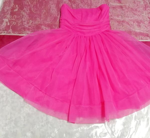 インド製蛍光ピンクマゼンタインディアンワンピースフレアドレス Made in India fluorescent pink magenta indian onepiece skirt dress_画像3