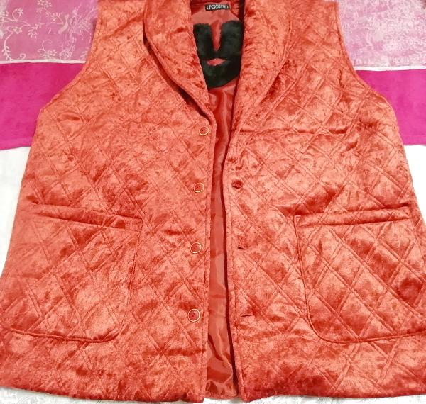 赤朱色レッド光沢豪華ベスト Scarlet red luster luxury vest_画像5