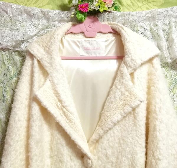 LIZ LISA リズリサ 白ホワイトカーディガンフードコート羽織外套 White cardigan food coat outerwear_画像5