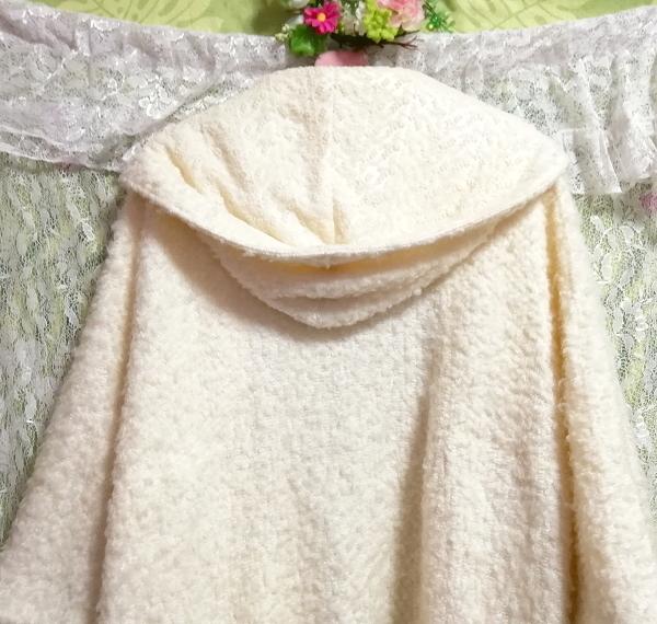 LIZ LISA リズリサ 白ホワイトカーディガンフードコート羽織外套 White cardigan food coat outerwear_画像6