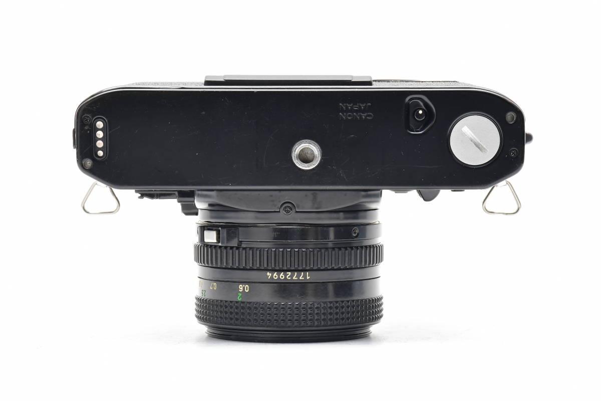 AM1017 ◆ Canon キヤノン A-1 + New FD 50mm F1.8 MF一眼レフ 標準レンズ FDマウント_画像4