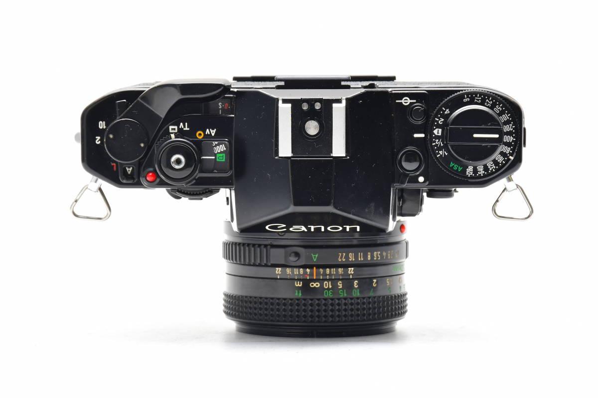 AM1017 ◆ Canon キヤノン A-1 + New FD 50mm F1.8 MF一眼レフ 標準レンズ FDマウント_画像3