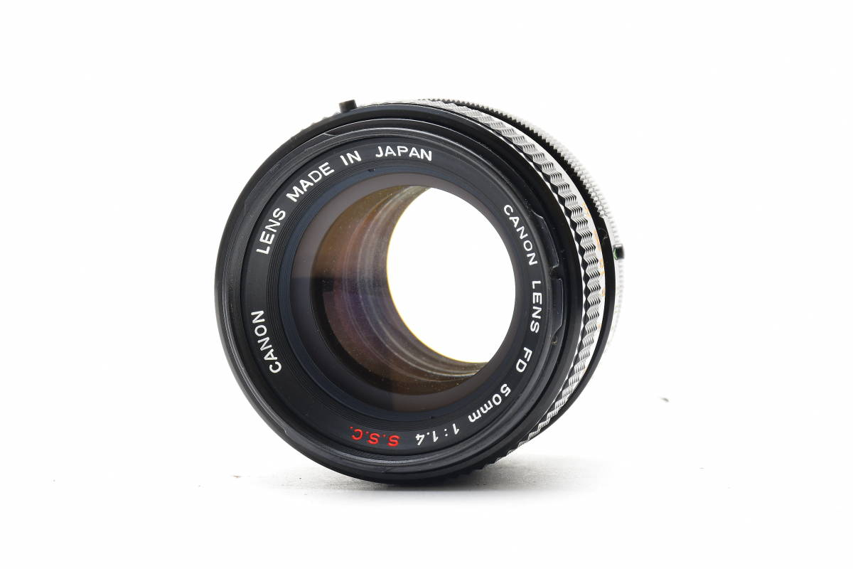 AA90 ◆ Canon キヤノン A-1 + FD 50mm F1.4 S.S.C MF一眼レフカメラ 標準レンズ FDマウント_画像9