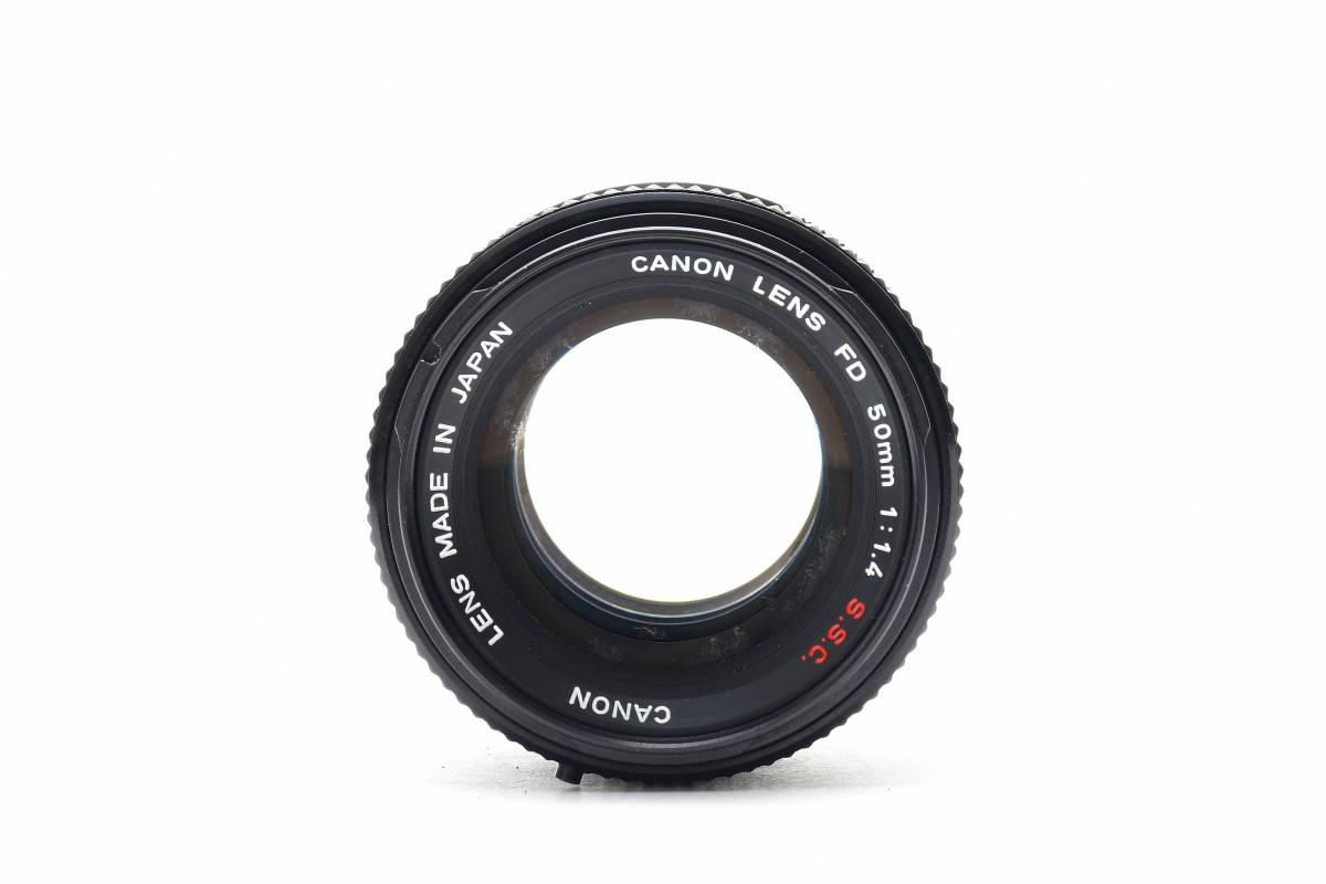 AA116 ◆ Canon キヤノン AE-1 + FD 50mm F1.4 S.S.C MF一眼レフカメラ 標準レンズ FDマウント_画像9