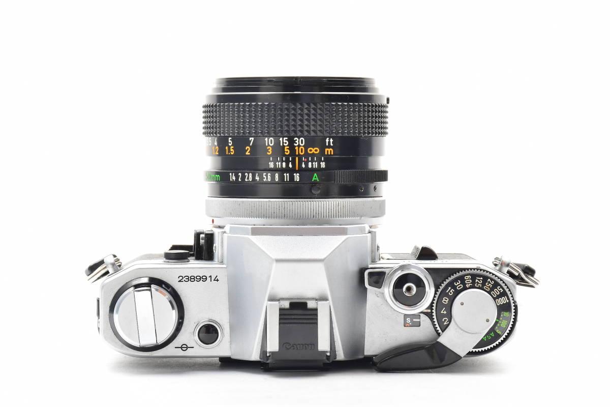 AA116 ◆ Canon キヤノン AE-1 + FD 50mm F1.4 S.S.C MF一眼レフカメラ 標準レンズ FDマウント_画像3