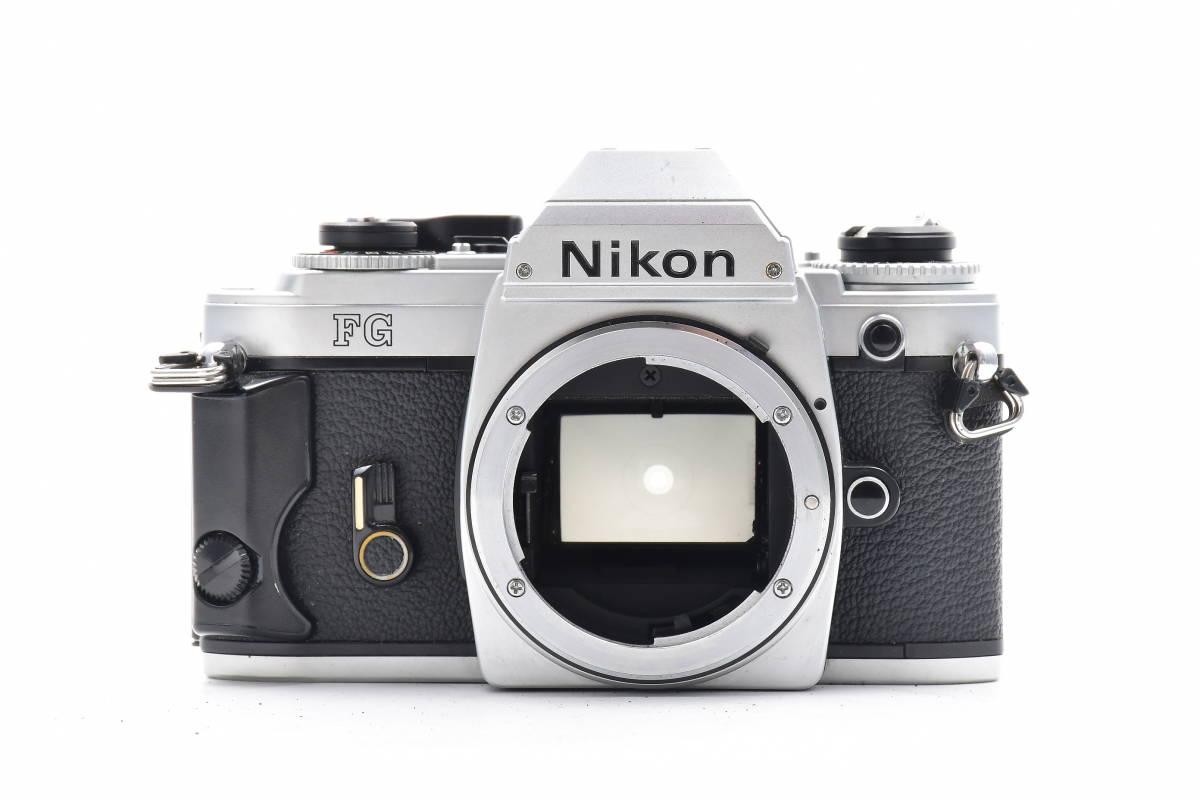 AA474 ◆ Nikon ニコン FG シルバーボディ MF一眼レフ フイルムカメラ