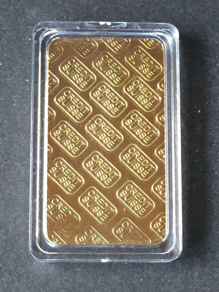 スイス クレジット・CREDIT SUISSE *1oz 記念コイン・インゴット 金貨番号766667_画像4