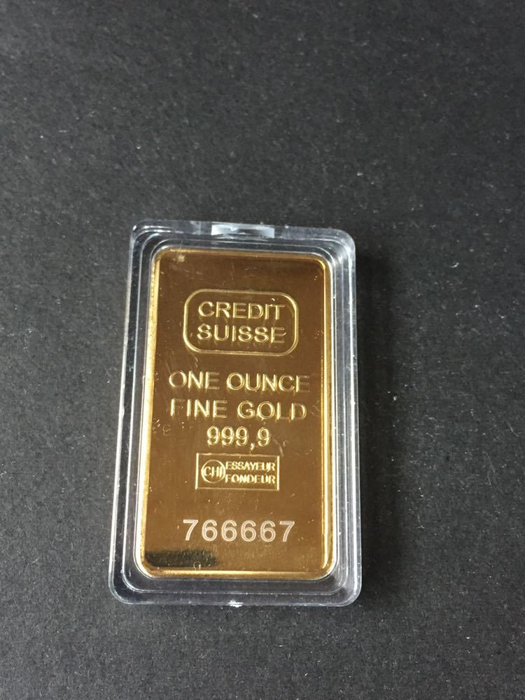 スイス クレジット・CREDIT SUISSE *1oz 記念コイン・インゴット 金貨番号766667