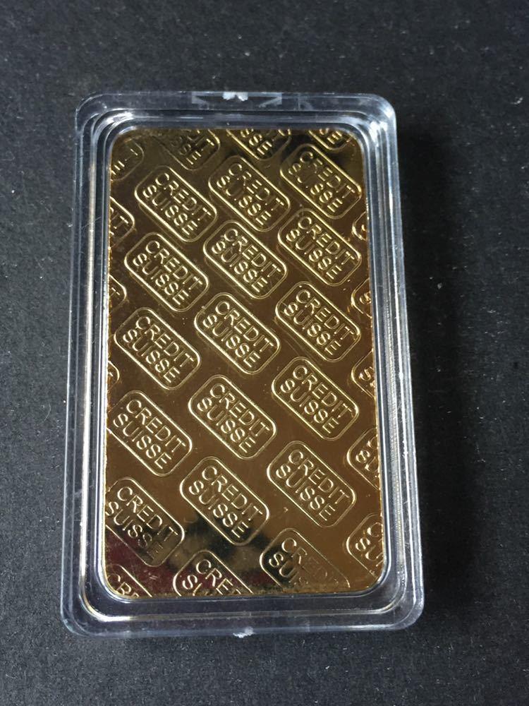 スイス クレジット・CREDIT SUISSE *1oz 記念コイン・インゴット 金貨番号766667_画像3
