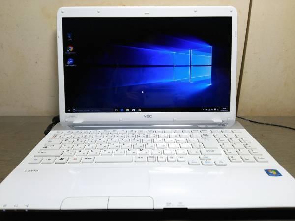 【E20】★超速 Core i7 搭載★メモリ6GB★LS350/F スノーホワイト/Windows 10 Home 搭載/美品!_画像2
